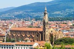 kyrklig croce florence santa Fotografering för Bildbyråer