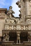kyrklig crocefacadeitaly lecce santa Arkivfoto