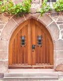 kyrklig dörr Fotografering för Bildbyråer