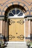 kyrklig dörringång Fotografering för Bildbyråer