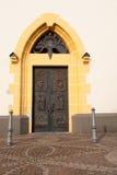 kyrklig dörrlaurentiusst Arkivfoto