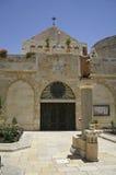 kyrklig dörrnativity Arkivfoto