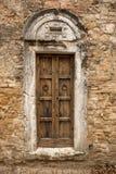 Kyrklig dörrtextur Royaltyfri Fotografi