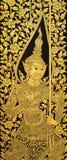 Kyrklig dörrtextur för Buddha Arkivfoto