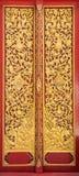 Kyrklig dörrtextur för buddism Royaltyfria Foton
