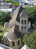 kyrklig de montmartre paris pierre saint Royaltyfria Bilder