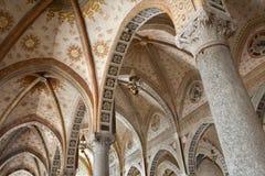 kyrklig dellegrazie inomhus maria milan santa Royaltyfri Fotografi