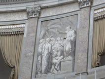kyrklig di francesco paola san naples italy Royaltyfria Bilder