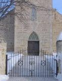 kyrklig entranceway till Royaltyfri Foto