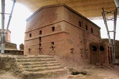 kyrklig ethiopia lalibela arkivfoton