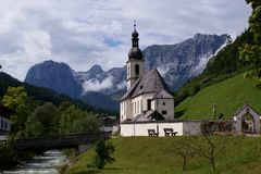 kyrklig församlingramsau sebastian st Royaltyfria Foton