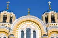 kyrklig facade Arkivfoto