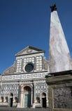 kyrklig facademaria novella santa Arkivfoto