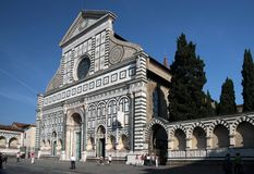 kyrklig facademaria novella santa Royaltyfri Foto