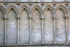 Kyrklig fasad för domkyrka, Ely; Cambridgeshire Royaltyfria Foton