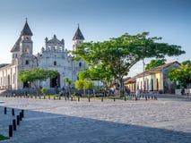 Kyrklig fasad i Granada Fotografering för Bildbyråer