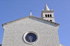 Kyrklig fasad - Rovinj, Kroatien Fotografering för Bildbyråer