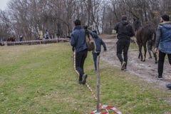 Kyrklig fest för bulgar - dag för ` s för St Theodore Arkivfoto