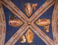 kyrklig florence fresco arkivfoto