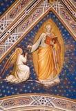 kyrklig florence fresco royaltyfria bilder
