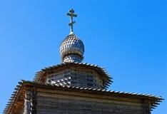 Kyrklig forntida träkupol för kristen arkivbilder
