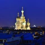 Kyrklig frälsare på blod i St Petersburg, Ryssland. Royaltyfri Fotografi