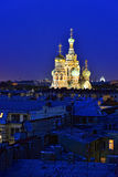 Kyrklig frälsare på blod i St Petersburg, Ryssland. Arkivbild