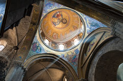kyrklig fresco jesus royaltyfria bilder