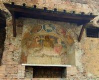 Kyrklig freskomålning, Rome, Italien arkivbild