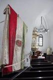 kyrklig gammal flaggaungrare Royaltyfri Bild
