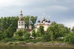 kyrklig gammal ortodox russia vologda Arkivfoto
