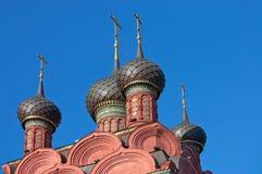 kyrklig gammal siktsyaroslavl Royaltyfri Fotografi