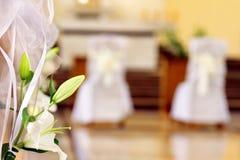 Kyrklig garnering för bröllopceremoni med utrymme för text arkivbilder