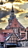 kyrklig germany lueneburgmichael st arkivfoton