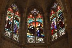 kyrklig gotisk detaljfransman Arkivfoto