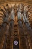 kyrklig gotisk interior Arkivfoto