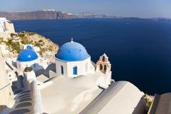 kyrklig greece greksantorini Arkivfoto