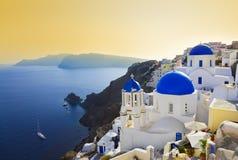 kyrklig greece oia santorini Fotografering för Bildbyråer