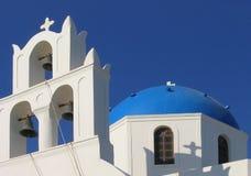 kyrklig greece ortodox santorini Fotografering för Bildbyråer
