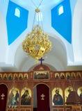 kyrklig grekisk interior Fotografering för Bildbyråer