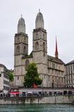 kyrklig grossmunster switzerland zurich Royaltyfri Bild