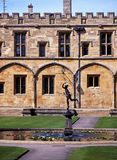 Kyrklig högskola för Kristus, Oxford, UK. Arkivfoton