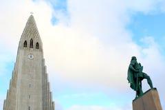 kyrklig hallgrimskirkja iceland reykjavik Resor arkivfoton