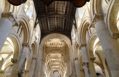 Kyrklig inre, christ kyrka, England Arkivbild