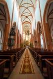 Kyrklig inre för St. Elisabet Arkivbild