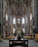 kyrklig inre lorenz nuremberg st arkivbilder