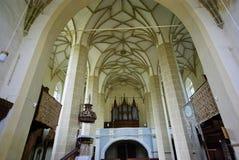 kyrklig inre omdanad sikt Fotografering för Bildbyråer