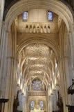 Kyrklig inre, oxford, England Arkivbilder