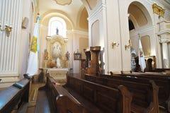 kyrklig interior 01 Arkivfoto