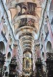 kyrklig interior Fotografering för Bildbyråer